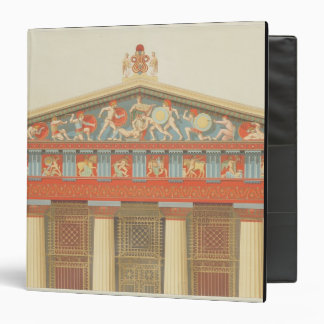 Facade of the Temple of Jupiter at Aegina (323-27 Vinyl Binders