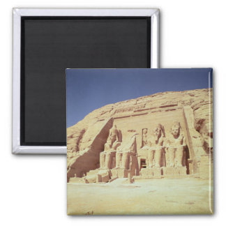 Facade of the Temple of Ramesses II 2 Inch Square Magnet