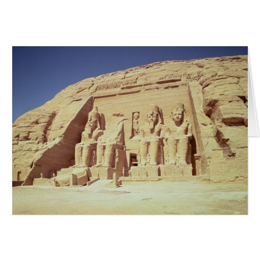Facade of the Temple of Ramesses II Card