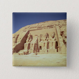 Facade of the Temple of Ramesses II Pinback Button