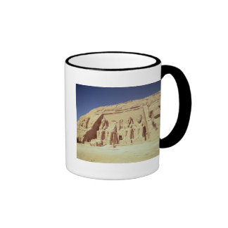Facade of the Temple of Ramesses II Ringer Coffee Mug