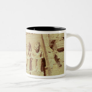 Facade of the Temple of Ramesses II Two-Tone Coffee Mug
