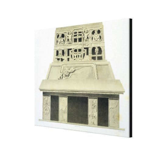 Facade of the Temple of the Sun, Palenque, plate 2 Gallery Wrap Canvas