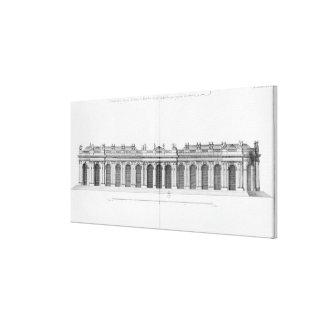 Facade on the Seine of Palais Bourbon Canvas Print