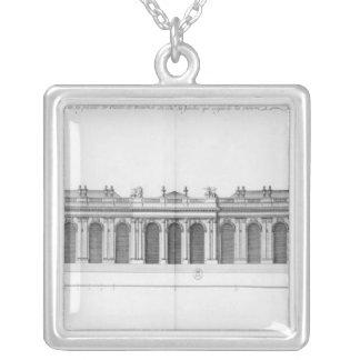 Facade on the Seine of Palais Bourbon Square Pendant Necklace
