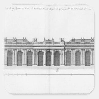 Facade on the Seine of Palais Bourbon Square Sticker