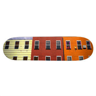 Facades of buildings of New York Skateboard Deck