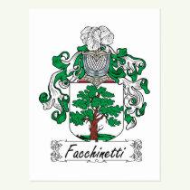 Facchinetti Family Crest Postcard
