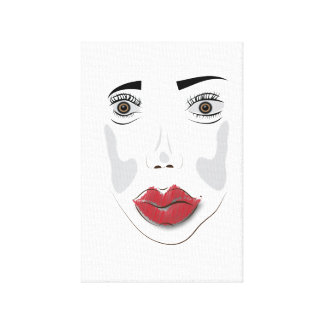 Face 002 canvas print