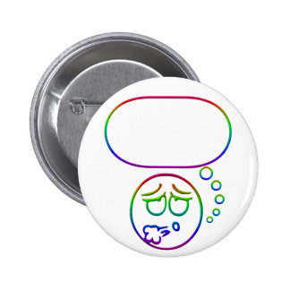 Face #10 (with speech bubble) 2 inch round button
