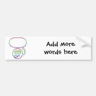 Face #10 (with speech bubble) bumper sticker