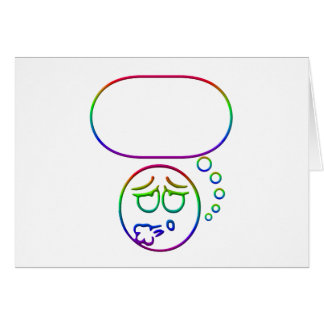 Face #10 (with speech bubble) card