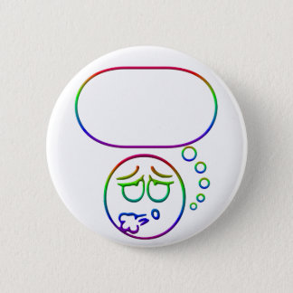 Face #10 (with speech bubble) pinback button
