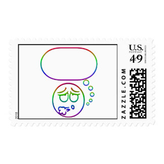Face #10 (with speech bubble) stamps