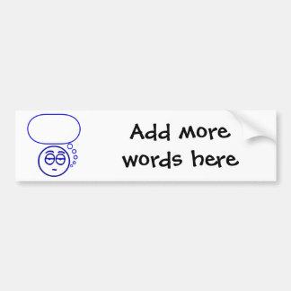 Face #1 (with speech bubble) bumper sticker