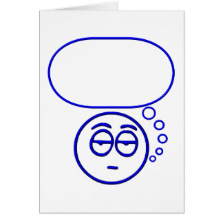Face #1 (with speech bubble) card