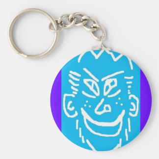 face (2) basic round button keychain
