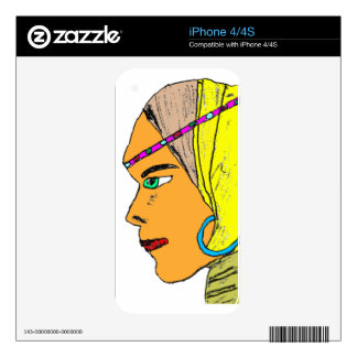 Face 2 decal for iPhone 4
