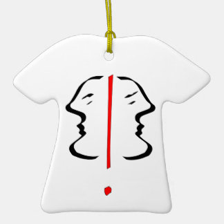 Face 2 Double-Sided T-Shirt ceramic christmas ornament