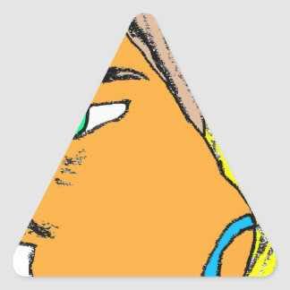 Face 2 triangle sticker