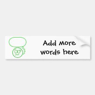 Face #2 (with speech bubble) bumper sticker
