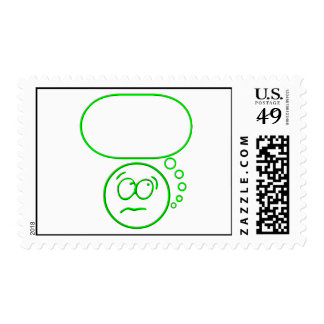 Face #2 (with speech bubble) postage stamps