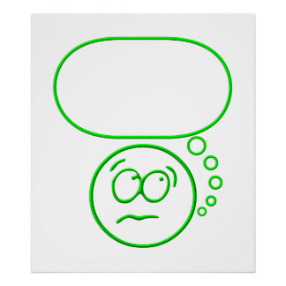 Face #2 (with speech bubble) print