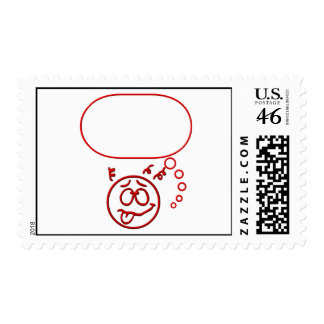 Face 3 with speech bubble postage