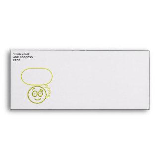 Face #4 (with speech bubble) envelope