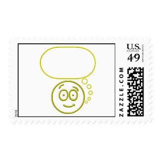 Face #4 (with speech bubble) stamps