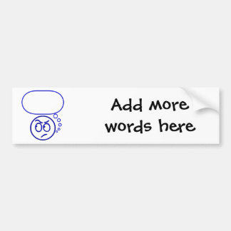 Face #5 (with speech bubble) bumper sticker