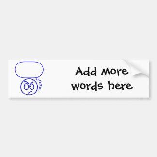 Face #5 (with speech bubble) bumper sticker