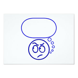 Face #5 (with speech bubble) card