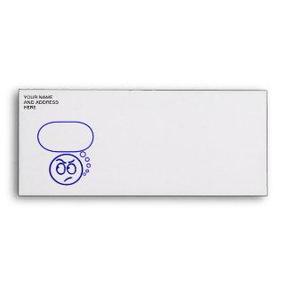 Face #5 (with speech bubble) envelopes