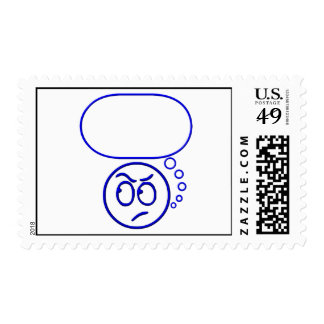 Face #5 (with speech bubble) postage stamps