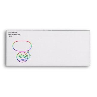 Face #6 (with speech bubble) envelopes
