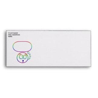 Face #7 (with speech bubble) envelope