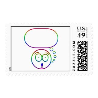 Face #7 (with speech bubble) stamp