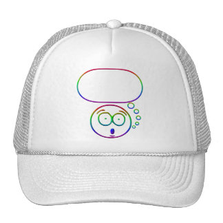 Face #7 (with speech bubble) trucker hat