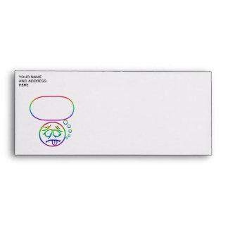 Face #8 (with speech bubble) envelope