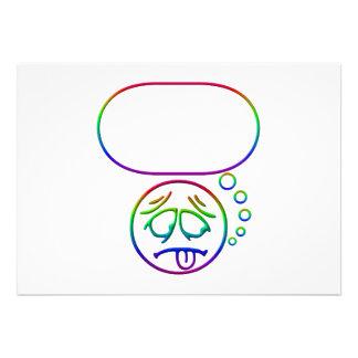 Face 8 with speech bubble invite