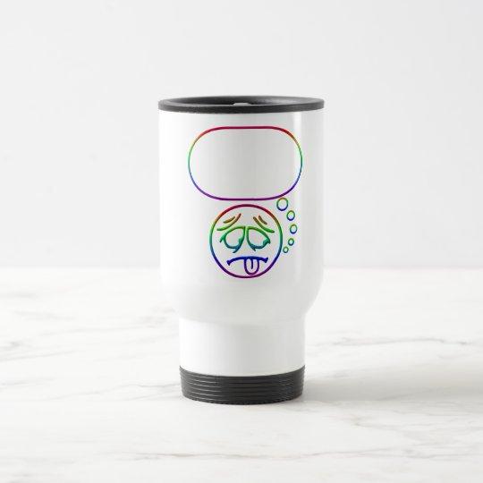 Face #8 (with speech bubble) travel mug