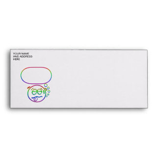 Face #9 (with speech bubble) envelopes