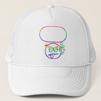 Face #9 (with speech bubble) trucker hat