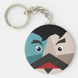 Face abstraction keychain