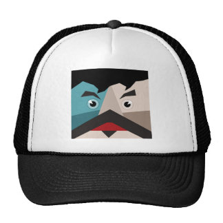 Face abstraction trucker hat