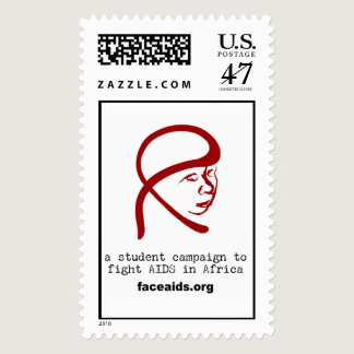 FACE  AIDS postage