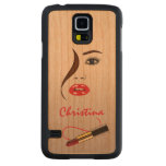 Face and Lipstick Carved® Wood Samsung S5 Cases