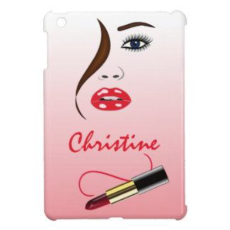 Face and Lipstick in the Mirror iPad Mini Cases