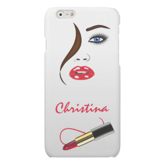 Face and Lipstick Kiss Mirror Matte iPhone 6 Cases